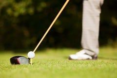 teeing för golf Arkivbilder
