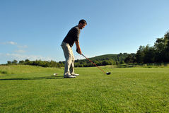 Teeing off Stock Photography