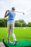 Teeing off. Stock Images