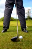 Teeing Off Shoe View stock images