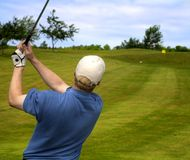 Teeing Off Swing royalty free stock image