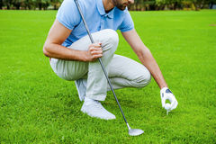 Teeing up. Stock Images