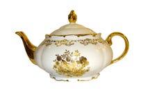 Teekanne auf einem weißen Hintergrund Stockbilder