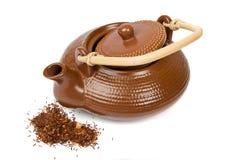 Teekanne auf Weiß Lizenzfreie Stockfotografie