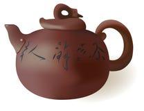 Teekanne für grünen Tee lizenzfreie abbildung