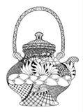 violine mit bogen zentangle stilisierte muster vektor vektor abbildung illustration von geige. Black Bedroom Furniture Sets. Home Design Ideas