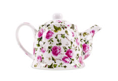 Teekanne lokalisiert auf dem weißen Hintergrund Lizenzfreies Stockfoto