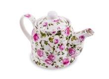 Teekanne lokalisiert auf dem weißen Hintergrund Stockbild
