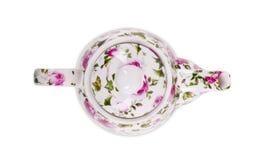 Teekanne lokalisiert auf weißem Hintergrund Stockbilder
