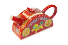 Teekanne lokalisiert auf weißem Hintergrund Stockfoto