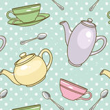 Teekanne-Muster vektor abbildung