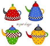 Teekanne-Set Lizenzfreies Stockbild