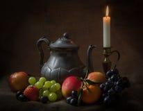 Teekanne-Stillleben Stockfoto