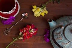 Teekanne und Cup Lizenzfreies Stockfoto