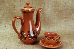 Teekanne und Cup Stockfoto