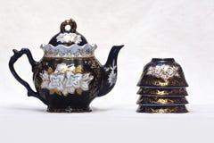 Teekanne und pialas Stockfotos