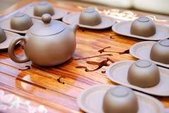 Teekanne und Teacup Stockfoto