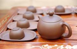 Teekanne und Teacup Stockbilder
