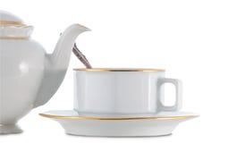 Teekanne und Teacup Stockbild