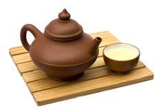 Teekanne und Teacup Lizenzfreies Stockbild