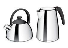 Teekanne und Wasserkocher Stockbilder