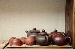 Teekannen Stockbild