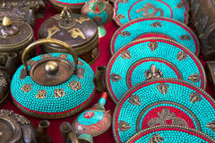 Teekannen am indischen Markt Lizenzfreies Stockbild