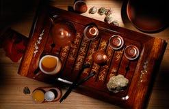 Teekannen und Cup Stockfotos