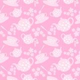 Teekannen- und Schalenmuster Lizenzfreie Stockbilder