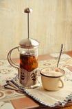 Teekessel Kräutertee Stockbilder