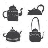 Teekesselsatz Stockfoto