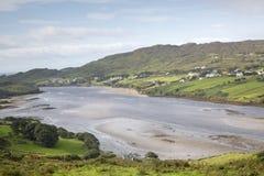 Teelin cerca de Carrick, Donegal, Irlanda Fotografía de archivo libre de regalías