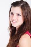Teen. Happy teen girl isolated on white Royalty Free Stock Photos