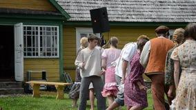 Teen actors performance stock footage