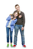Teen age brother and sister Stock Photo