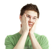 Teen aged boy stock images