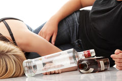 Teen alcohol addiction Stock Image