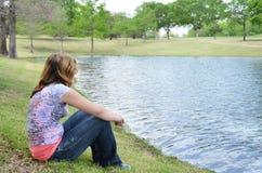 Teen Alone Stock Photo