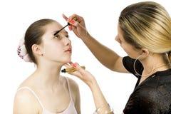 Teen And Mascara Royalty Free Stock Photography