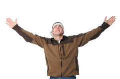 Teen with arms wide open Stock Image