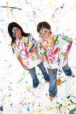 Teen Artist Stock Photo