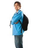 Teen with backpack Royalty Free Stock Photo