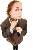 Teen in Baggy Suit Royalty Free Stock Image