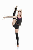 Teen ballet dancer stretching exercise Stock Image