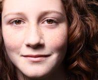 teen barn för headshot Arkivfoto