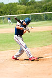 Teen baseball boy at bat Stock Photos