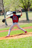 Teen Baseball pitcher Royalty Free Stock Photos