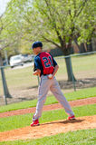 Teen baseball pitcher Royalty Free Stock Photo