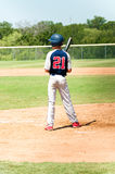 Teen baseball player at bat Royalty Free Stock Photo