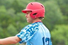 Teen baseball player on deck Stock Photography